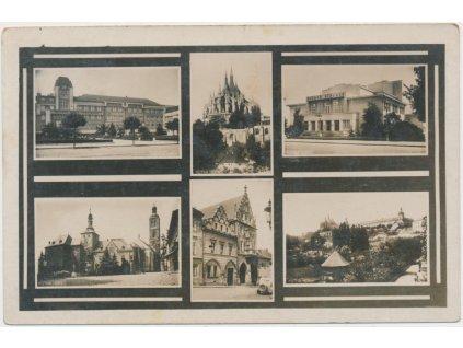 31 - Kutná Hora, 6 - ti záběr dominant města, cca 1930