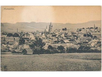45 - Pelhřimovsko, Humpolec, pohled na město, cca 1920