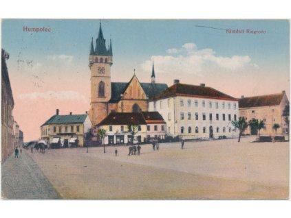 45 - Pelhřimovsko, Humpolec, oživené Riegrovo náměstí, cca 1924