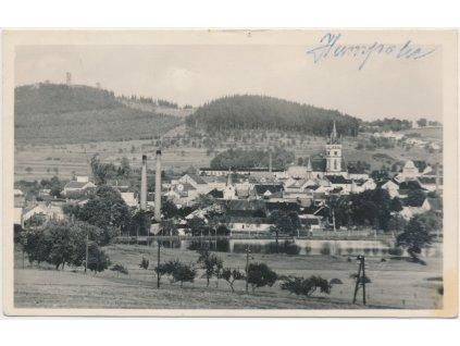 45 - Pelhřimovsko, Humpolec, pohled na město, Grafo Čuda, cca 1946