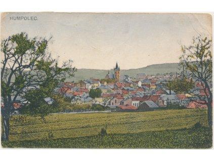 45 - Pelhřimovsko, Humpolec, pohled na město, nákl. K. Pospíšil, 1919