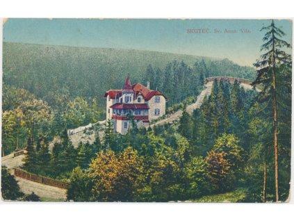 10 - Chrudimsko, Skuteč, partie s výhledem na vilu Sv. Anny, cca 1925