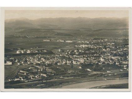 Slovensko, Žilina, celkový pohled na město, cca 1933
