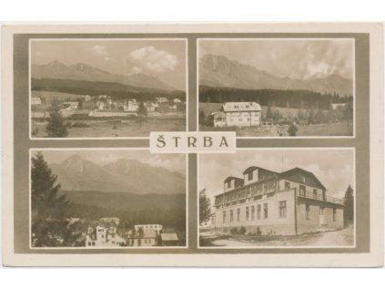 Slovensko, Štrba, 4 - záběr dominant obce, cca 1930