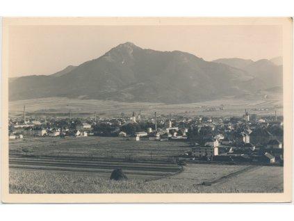 Slovensko, Liptovský Mikuláš, celkový pohled na město, Grafo Čuda,1930