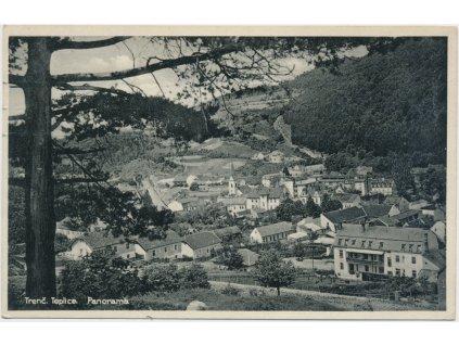 Slovensko, Trenčianské Teplice, celkový pohled na město, cca 1931
