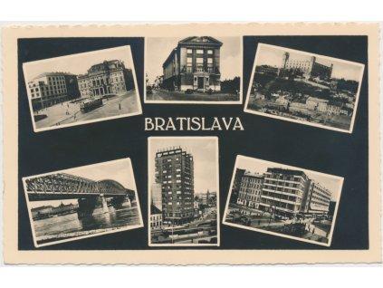 Slovensko, Bratislava, 6 - ti záběr dominant města, cca 1935