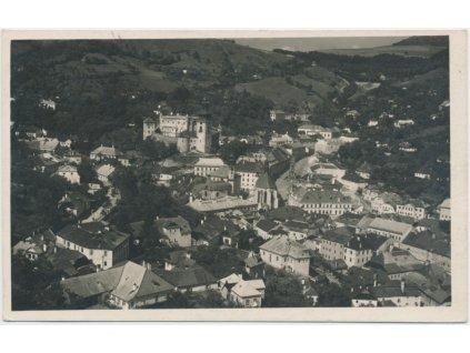 Slovensko, Banská Štiavnica, celkový pohled na město, cca 1939