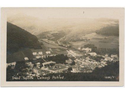 Slovensko, Trenčianské Teplice, celkový pohled na město, cca 1930