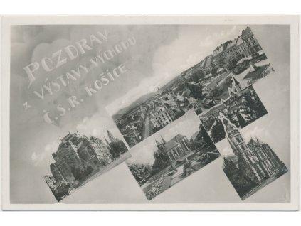 Slovensko, Košice, 6 - ti záběr dominant města, cca 1933