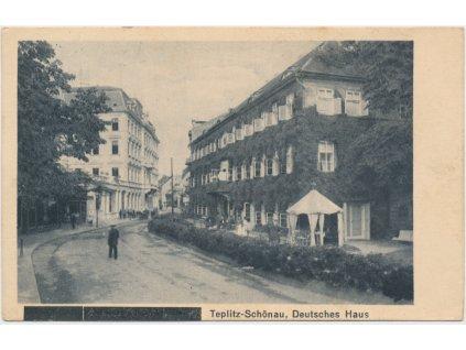 65 - Teplice, Deutsches Haus, cca 1925