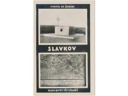 72 - Vyškovsko, Slavkov, 2 - záběr, pomník na Žuráni...