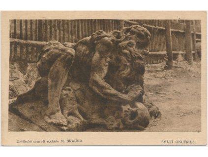 Umělecké sousoší sochaře M. Brauna, Svatý Onufrius