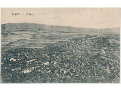 Slovensko, Jasov, celkový pohled na město, cca 1925