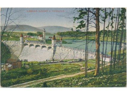 66 - Trutnovsko, Těšnov - okolí Královédvorské, Labská nádrž, ca 1917
