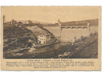 66 - Trutnovsko, Těšnov, Labská nádrž / vodní nádrž Les Království
