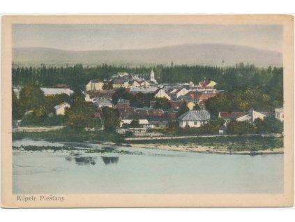 Slovensko, Piešťany, pohled na lázeňské město, cca 1925