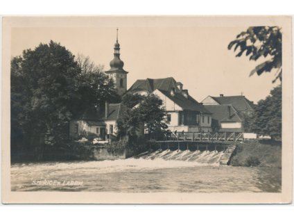 19 - Královéhradecko, Smiřice, partie u Labe, cca 1933