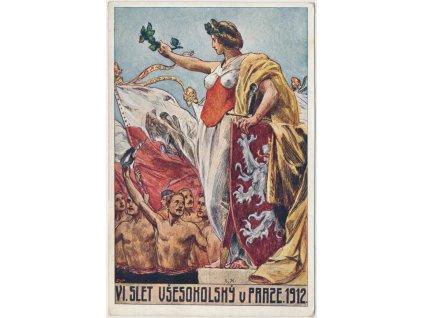 VI. slet všesokolský v Praze, cca 1912