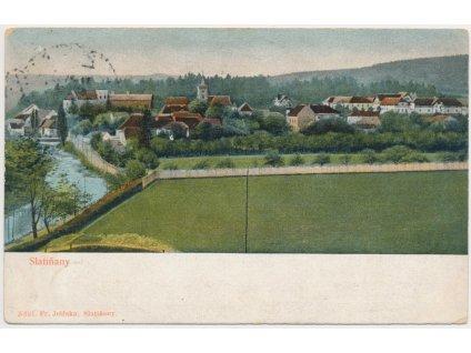 10 - Chrudimsko, Slatiňany, pohled na město, nákl. F. Jelínek, ca 1920