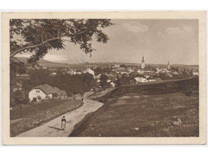 75 - Žďársko, Nové Město na Moravě, partie s pohledem na město,ca 1928