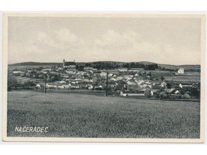 01 - Benešovsko, Načeradec, celkový pohled na město, cca 1933