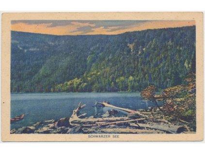28 - Klatovsko, Šumava, partie u Černého jezera, Foto J. Seidel, 1920