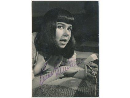 Přenosilová Yvonne(1947), česká zpěvačka, pohlednice s vlast. podpisem
