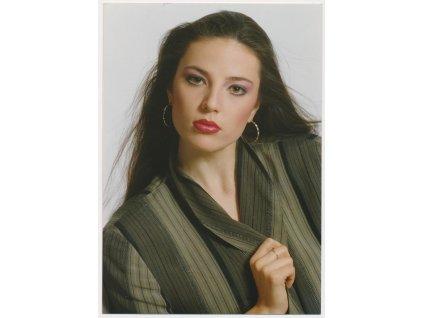 Christová Ivana (1970), Miss ČSSR 1989, fotografie s podpisem
