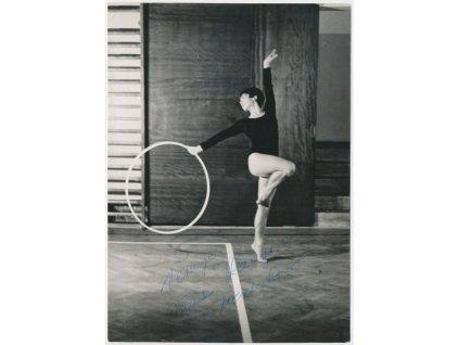 Machatová/Langová Jiřina(1938),česká gymnastka, foto s vlast.podpisem