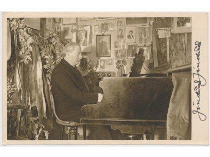 Jindřich Jindřich(1876-1967), hudební skladatel, pohlednice s podpisem