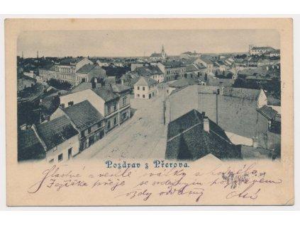 53 - Přerov, celkový pohled na město, cca 1898