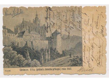 49 - Praha, Chrám sv. Víta(pohled z Jeleního příkopu), cca 1901