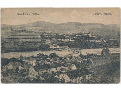 01 - Benešovsko, Sázava - Buda, celkový pohled, nakl. K. Zuna