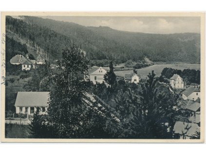 01 - Benešovsko, Sázava, partie u zastávky, cca 1935