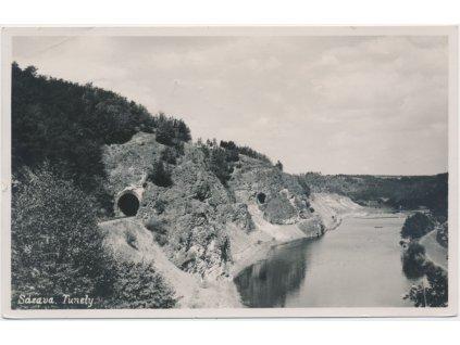 01 - Benešovsko, Sázava, partie u tunelů, cca 1935