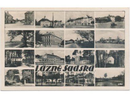 40 - Nymbursko, Lázně Sadská, 16 - ti záběr dominant města, ca 1942
