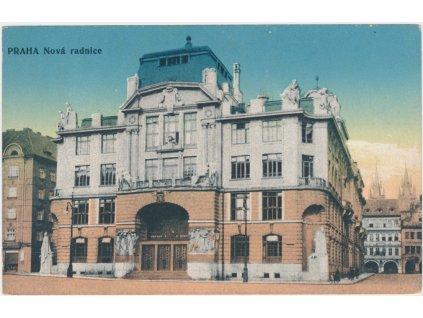 49 - Praha, partie u nové radnice, cca 1920