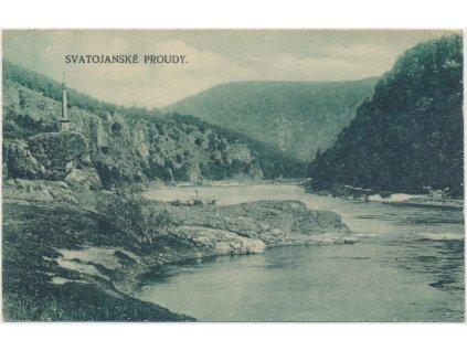 51 - Praha - západ, Svatojanské proudy, partie z Povltaví, cca1922