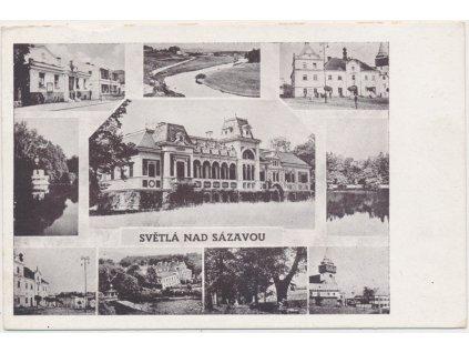 17 - Havlíčkobrodsko, Světlá nad Sázavou, 10 - ti záběr dominant, 1946