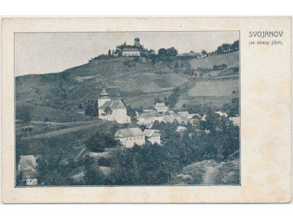 61 - Svitavsko, Svojanov, pohled na městys z jižní strany