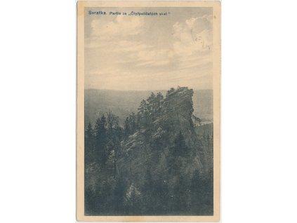 """75 - Žďársko, Svratka, partie ze """"Čtyřpaličatých skal"""", cca 1917"""