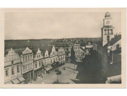 24 - Jindřichohradecko, Třeboň, pohled na náměstí, cca 1946