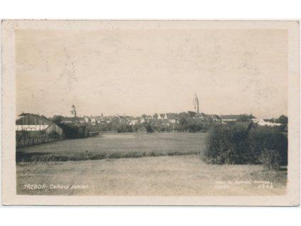 24 - Jindřichohradecko, Třeboň, celkový pohled, nákl. O. Semrád, cca 1931