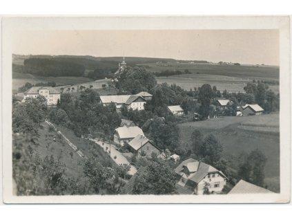57 - Rychnovsko, Javornice, pohled na část obce, cca 1936