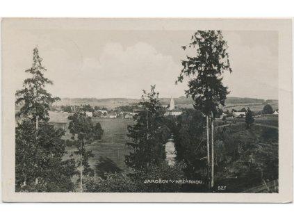 24 - Jindřichodradecko, Jarošov nad Nežárkou, celkový pohled na obec, cca 1940