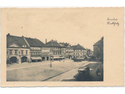 09 - Chomutov, Marktplatz - náměstí, cca 1933
