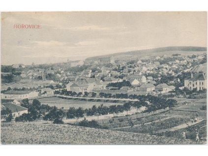 02 - Berounsko, Hořovice, celkový pohled na město, cca 1908