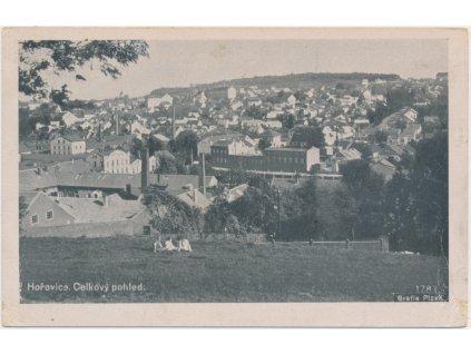 02 - Berounsko, Hořovice, celkový pohled na město, Grafie Plzeň, 1943