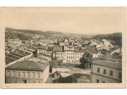 66 - Trutnovsko, Hostinné, pohled na město, cca 1953